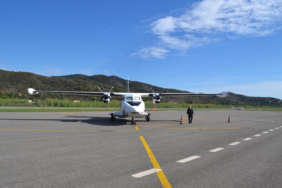Isola d'Elba in volo, la Silver Air ( photo credits Silver Air)